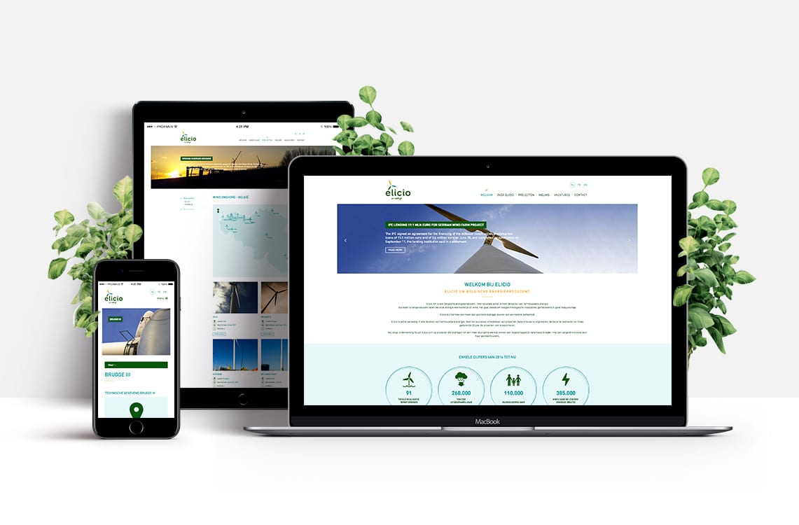 Ontwerp en Development website Elicio